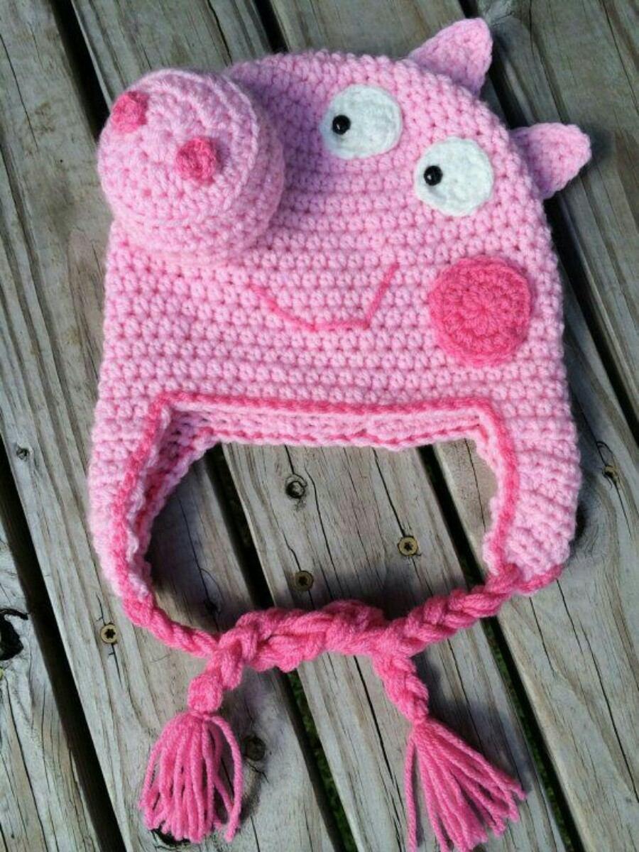Gorro Tejido Crochet Bebe Niño Peppa Pig Mickey Minnie Etc - $ 350 ...