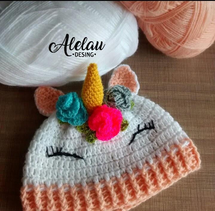 Gorro Tejido Crochet Bebe Unicornio 15000 En Mercado Libre