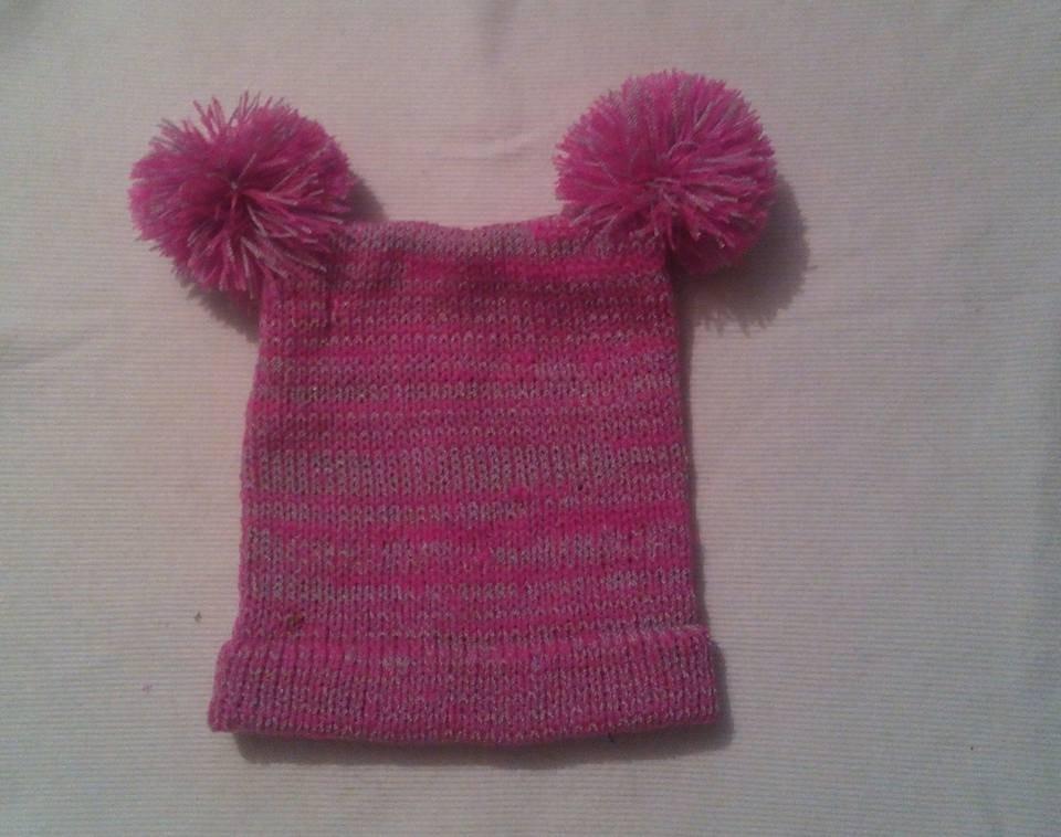 Gorro Tejido De Acrilan Y 2 Pompones Modelo #18 A Crochet - $ 75.00 ...