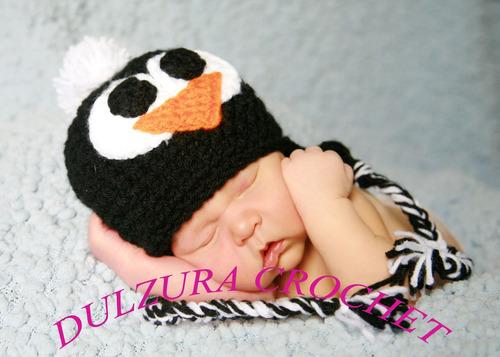 gorro tejido navidad bebés crochet niña niño unisex invierno