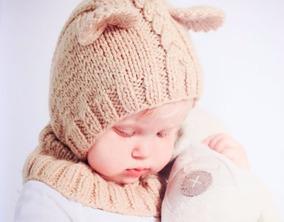 d6acde90c Gorro Tejido Para Bebé En Forma De Un Adorable Bebé Oso