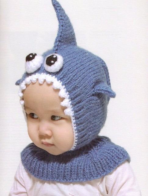 Gorro Tejido Para Bebé En Forma De Un Adorable Tiburón -   349.00 en ... d65671c4bd6