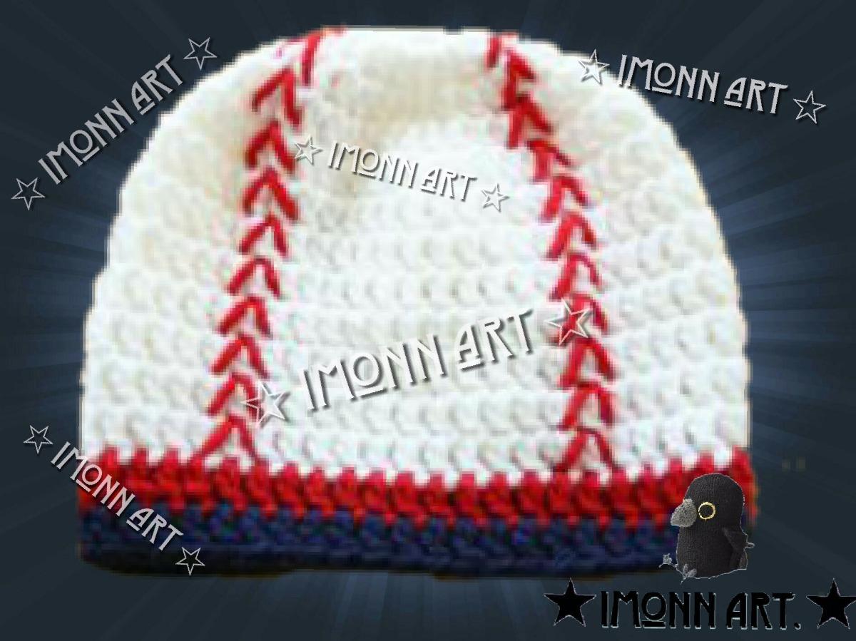 Gorro Tejido, Pelota De Beisbol, Artesanal Crochet! - $ 150.00 en ...