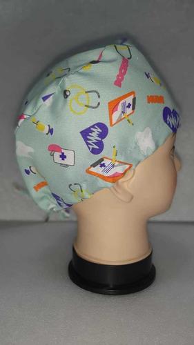 gorro tela antifluido médicos y otras especialidades