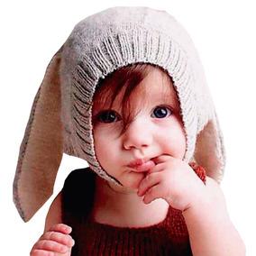 7317eadda Gorro Termico Tejido Con Orejas Gris Para Bebe Niños Niñas