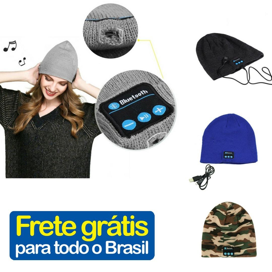 Gorro Touca Bluetooth - Wireless - Com Mic E Áudio Celular - R  120 ... fc068707c4b