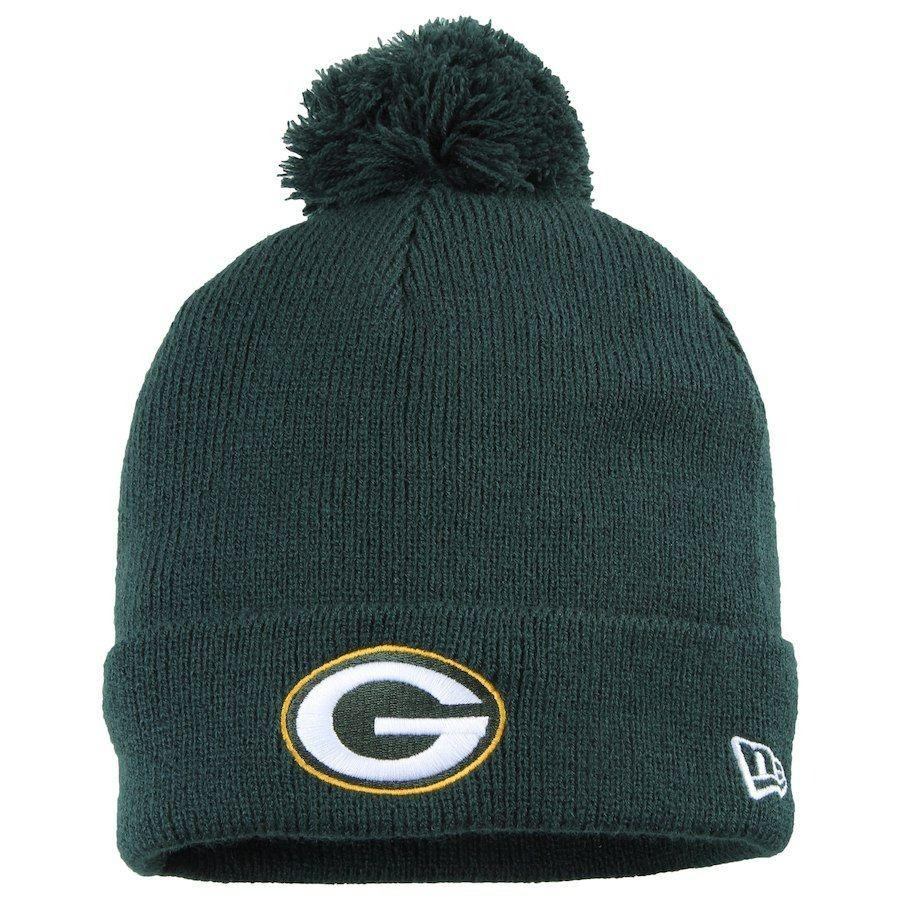 06db8fae4 gorro touca green bay packers green pom pom - new era. Carregando zoom.