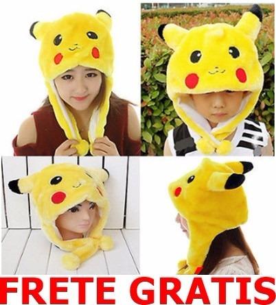 gorro touca pokemon pikachu frete gratis cosplay carnaval r 69 99