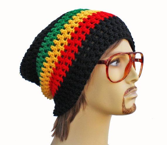Gorro Touca Reggae Jamaica Croche Beanie Bob Marley Rasta - R  39 5a59128979e
