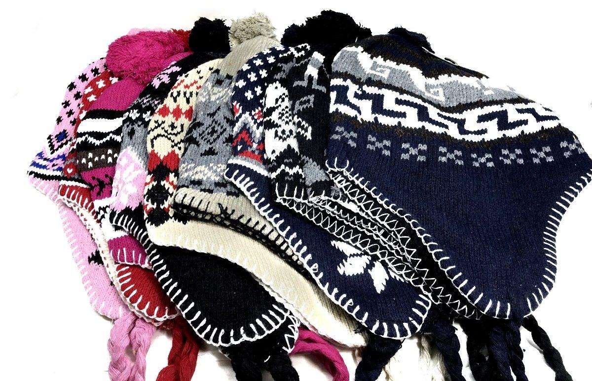 gorro touca unissex peruano 10 pçs kit lã pronta entrega top. Carregando  zoom. babdea9ac60