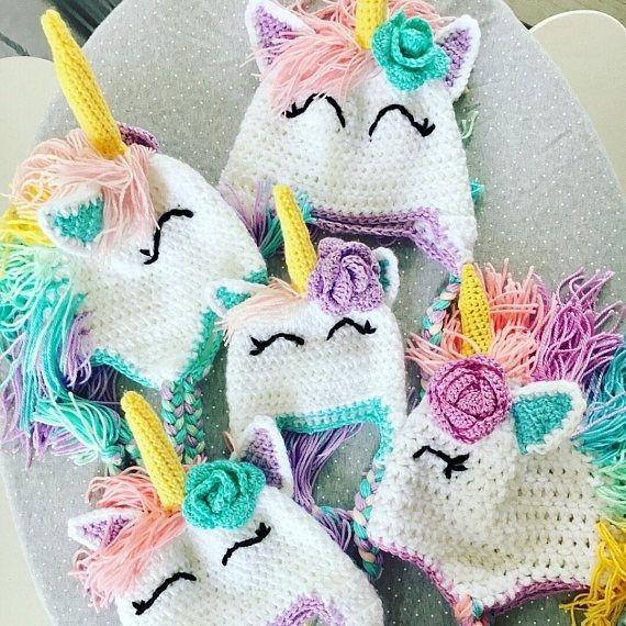 Gorro Unicornio Tejido Crochet -   280.00 en Mercado Libre f4b3ddeb0c4