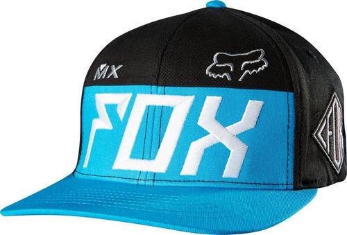 gorro visera fox exaust flexfit hat   s / m   l / x l