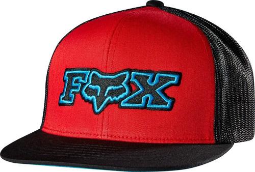 gorro visera fox youth burned snapback hat red