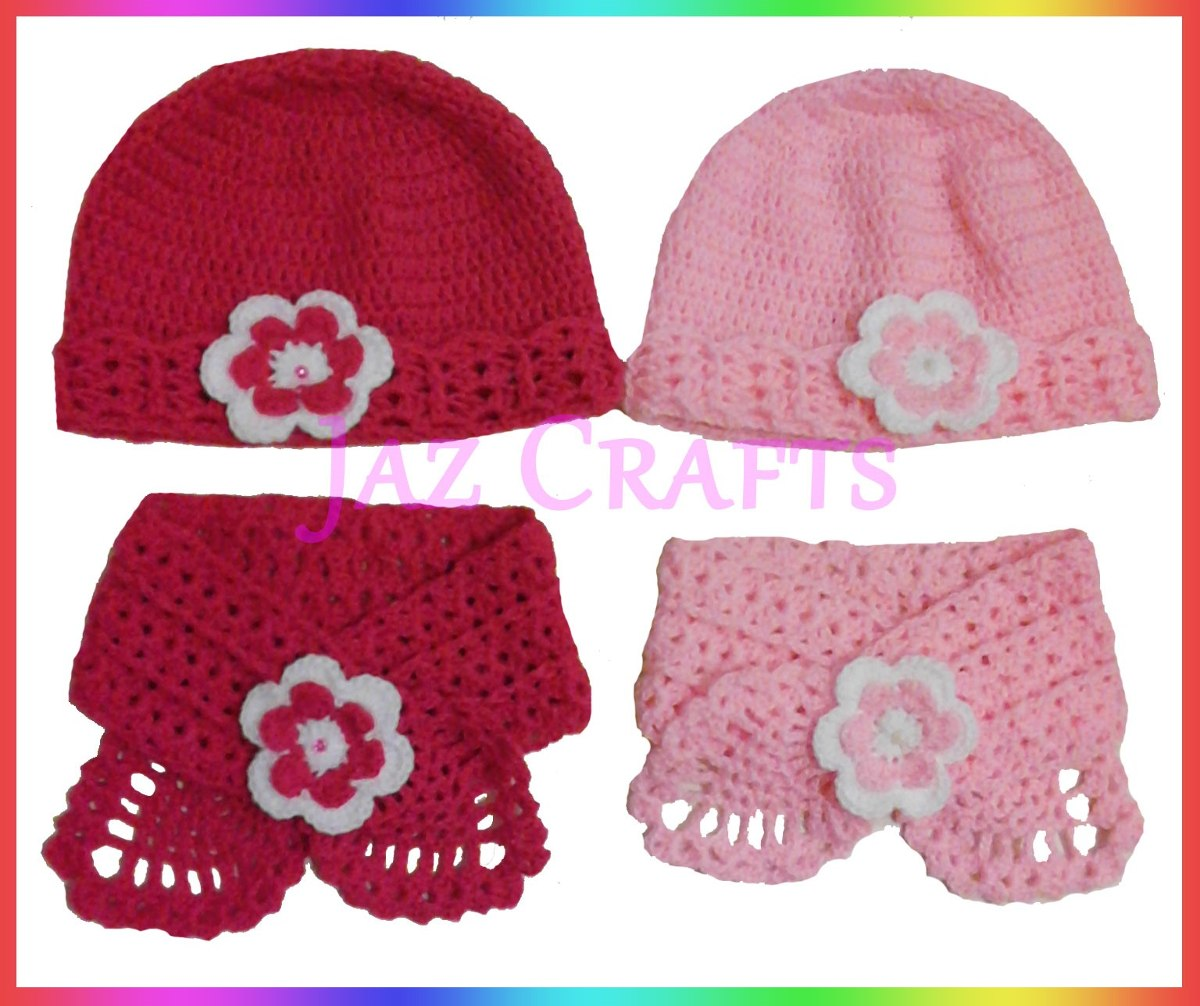 gorro y cuello bufanda para bebe tejido a crochet jaz crafts. Cargando zoom. dce06bbd8ba