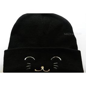 938b70845e311 Gorro Bordado Beanie Cat Rocker Grunge Gatitos Kawaii Gato