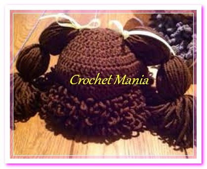 gorros a crochet  muñeca cabbage patch 2