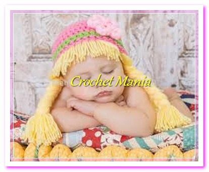 gorros a crochet  muñeca cabbage patch