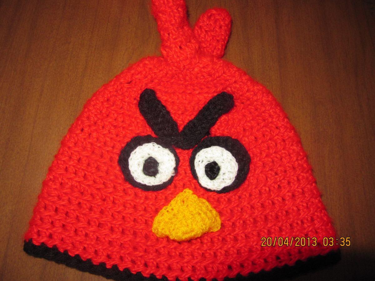 Gorros Angry Birds Tejidos A Mano - $ 80,00 en Mercado Libre