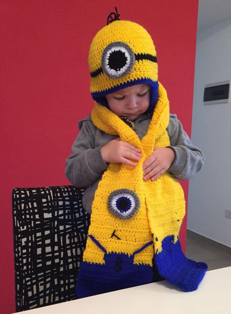 gorros , bufandas y mochilas infantiles tejidos a crochet