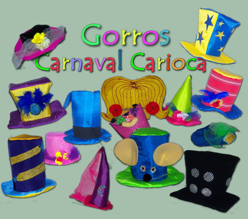 gorros carnaval carioca - galera baja