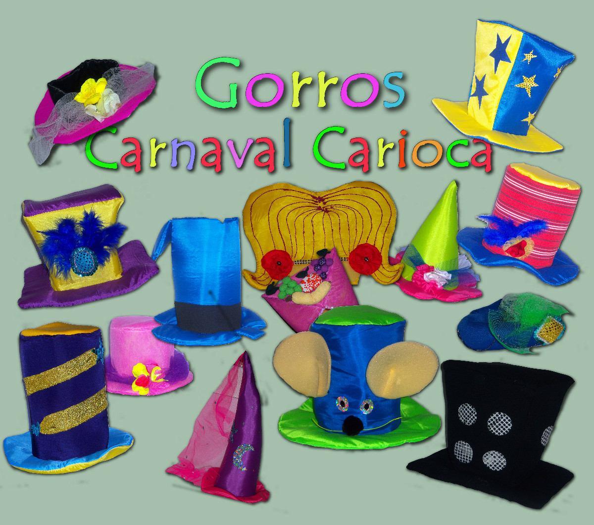 gorros carnaval carioca galera baja cuadrada 150 00 en mercado