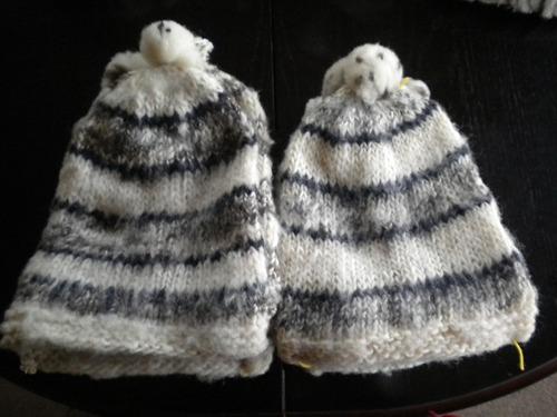 gorros chilotes originales, en lana oveja, niños y adultos