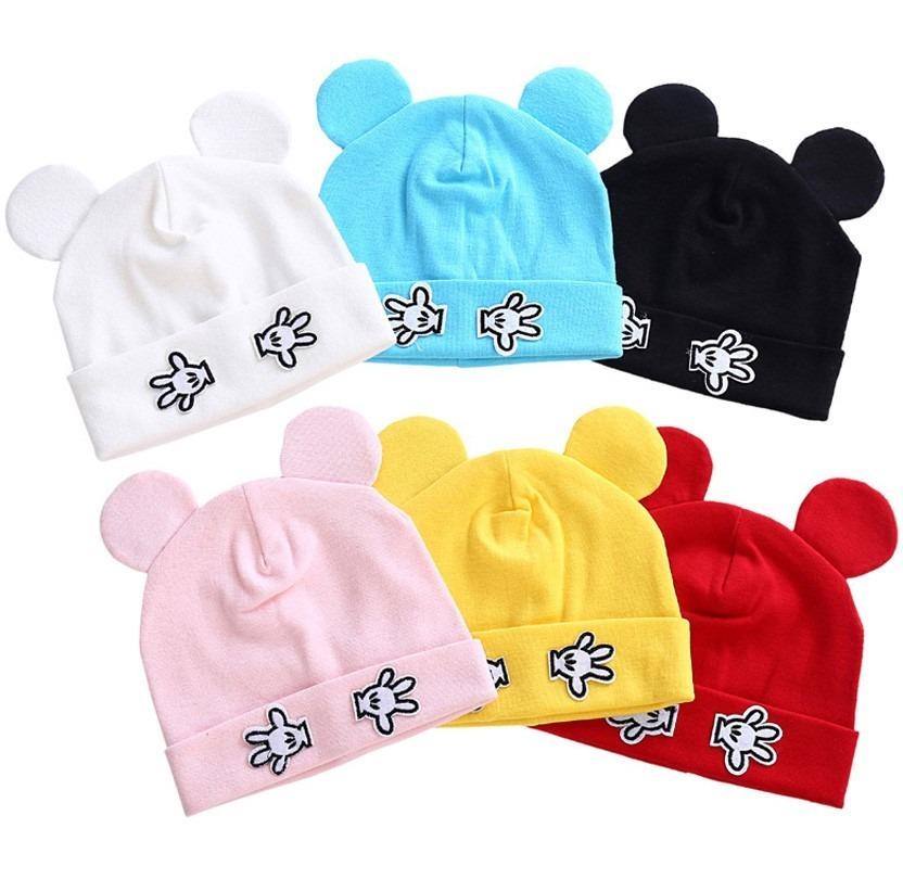 gorros con orejas mickey mouse para niños y bebes de algodón. Cargando zoom. c98c3c46d62