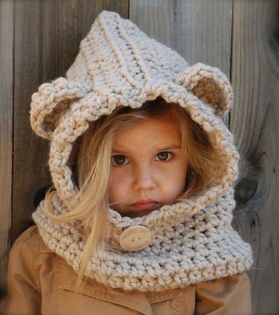 8fa673d8715b9 Gorros Cuello Osito De Lana Tejido Crochet Y Dos Agujas -   520
