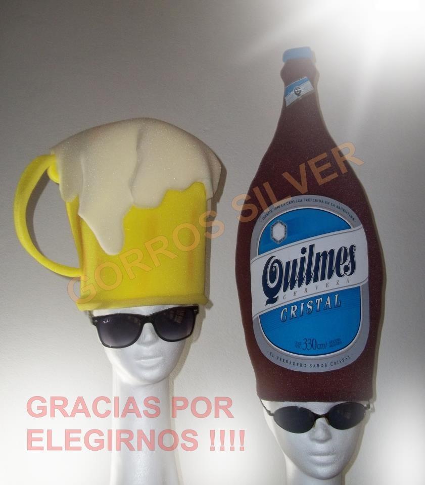 Gorros De Goma Espuma Cotillon   Combo Botella+chop -   600 58d2a514962