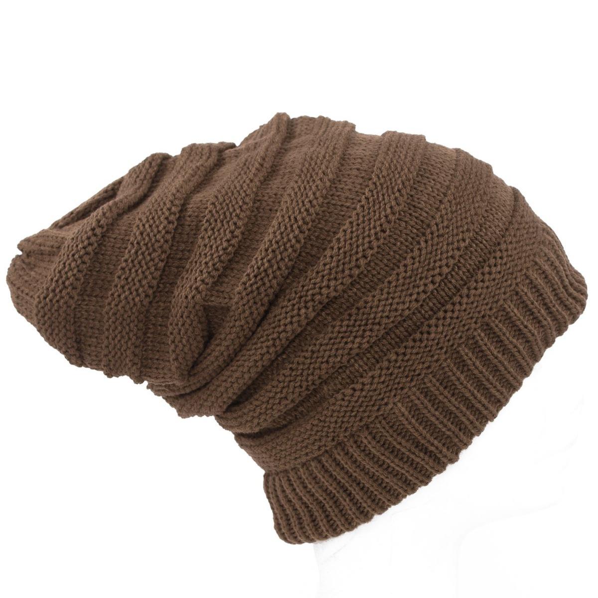 gorros de lana caidos beanie moda unisex color chocolate. Cargando zoom. db01fd4ac36