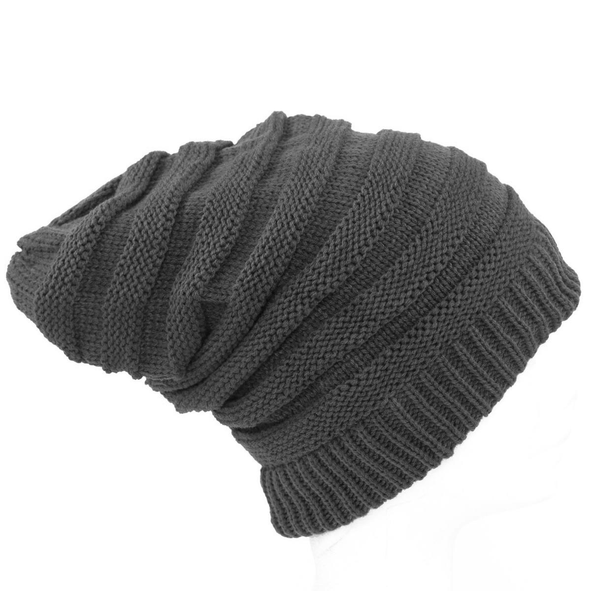 gorros de lana largos caidos beanie moda unisex color gris. Cargando zoom. a5c08dd6a65