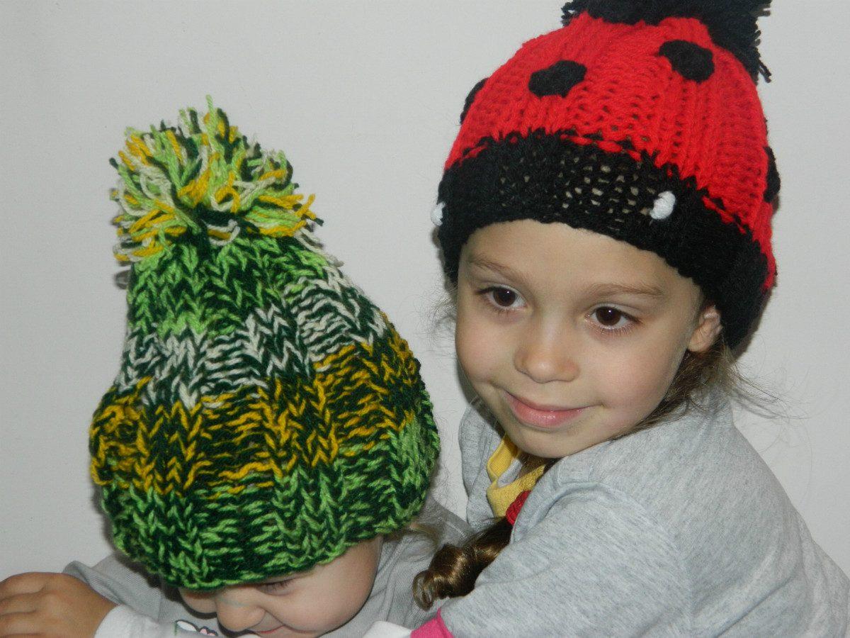 gorros de lana niños y adultos tejidos a mano. Cargando zoom. d23c8ecd305