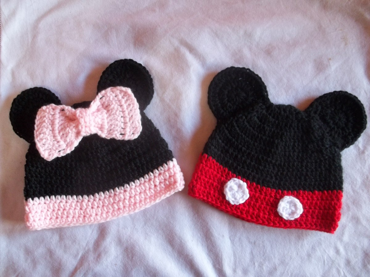 24ff7b5600470 gorros de minnie mickey para bebe chicos tejido crochet. Cargando zoom.