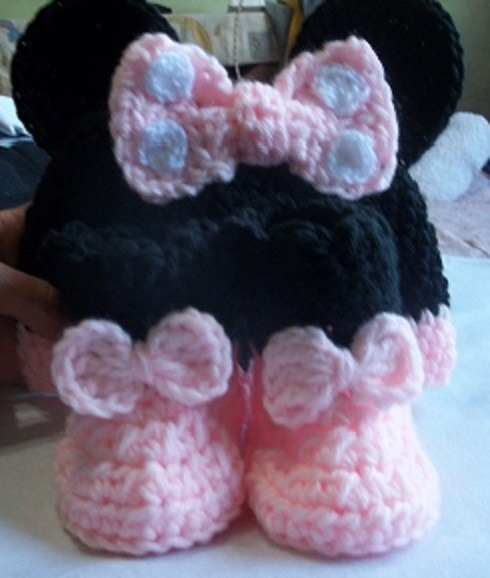 2cb8b3436 Gorros De Minnie Mickey Para Bebe Chicos Tejido Crochet -   230