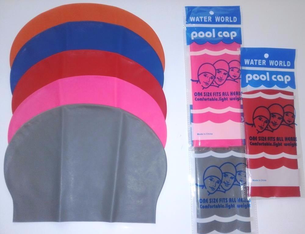 Gorros de nataci n para piscina en silicon licra y latex u s 5 99 en mercado libre - Gorros para piscina ...