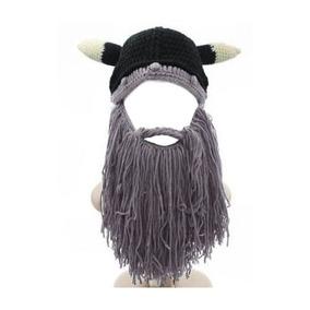 bed98ab512448 Hombres Barba De Vikingo Sombrero Bárbaro Vagabond Knit