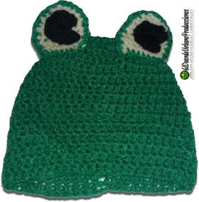 7515337da Gorro Tejido Al Crochet Sapo Pepe - Ropa y Accesorios en Mercado ...