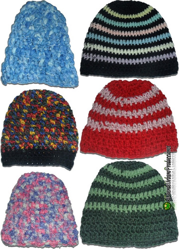 816bdc84a gorros infantiles tejidos crochet unisex mod. rojo + rayas. Cargando zoom.