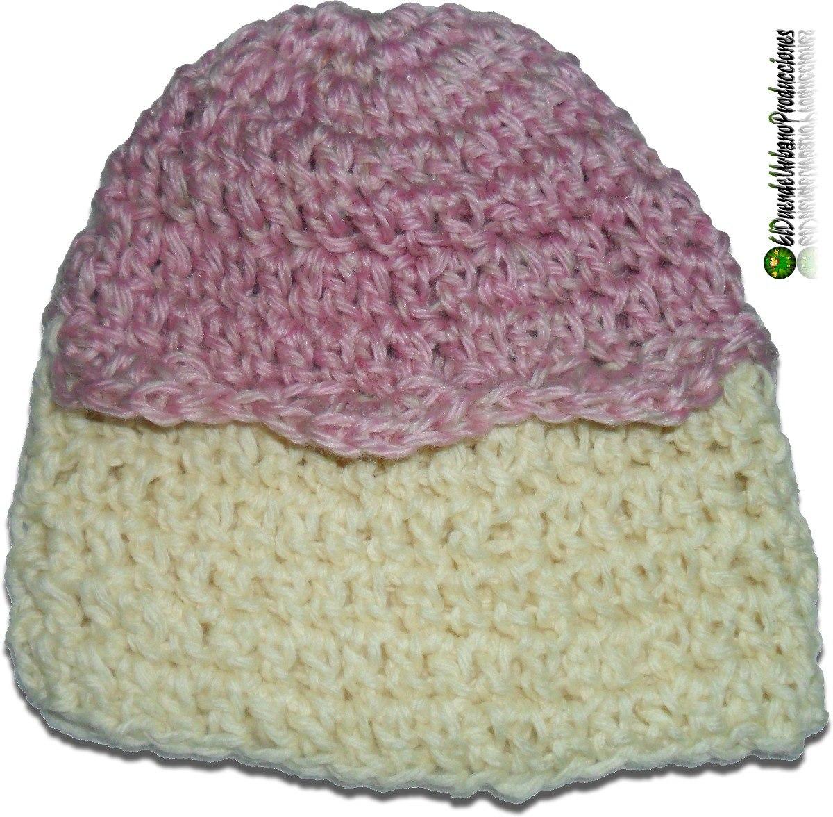 a31b5b33f gorros infantiles tejidos crochet unisex mod rosa con onda. Cargando zoom.