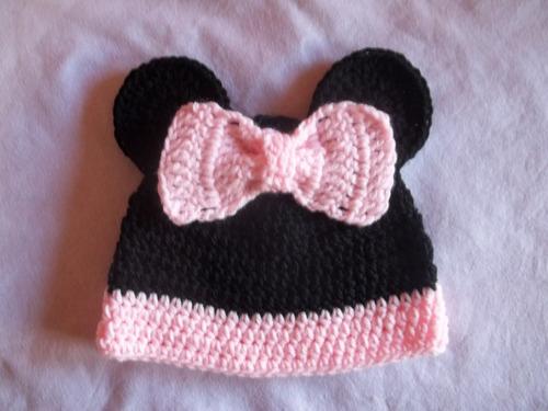 93ae373c6 gorros de minnie mickey para bebe chicos tejido crochet. Cargando zoom... gorros  para bebe
