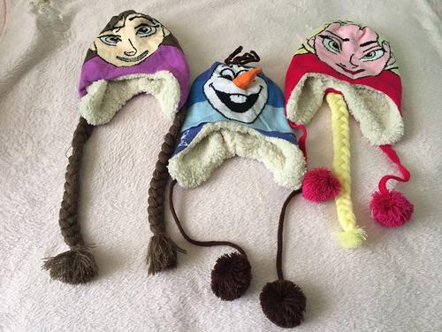 ¡gorros para niñ@ calientitos! de elsa, ana y olaf!!