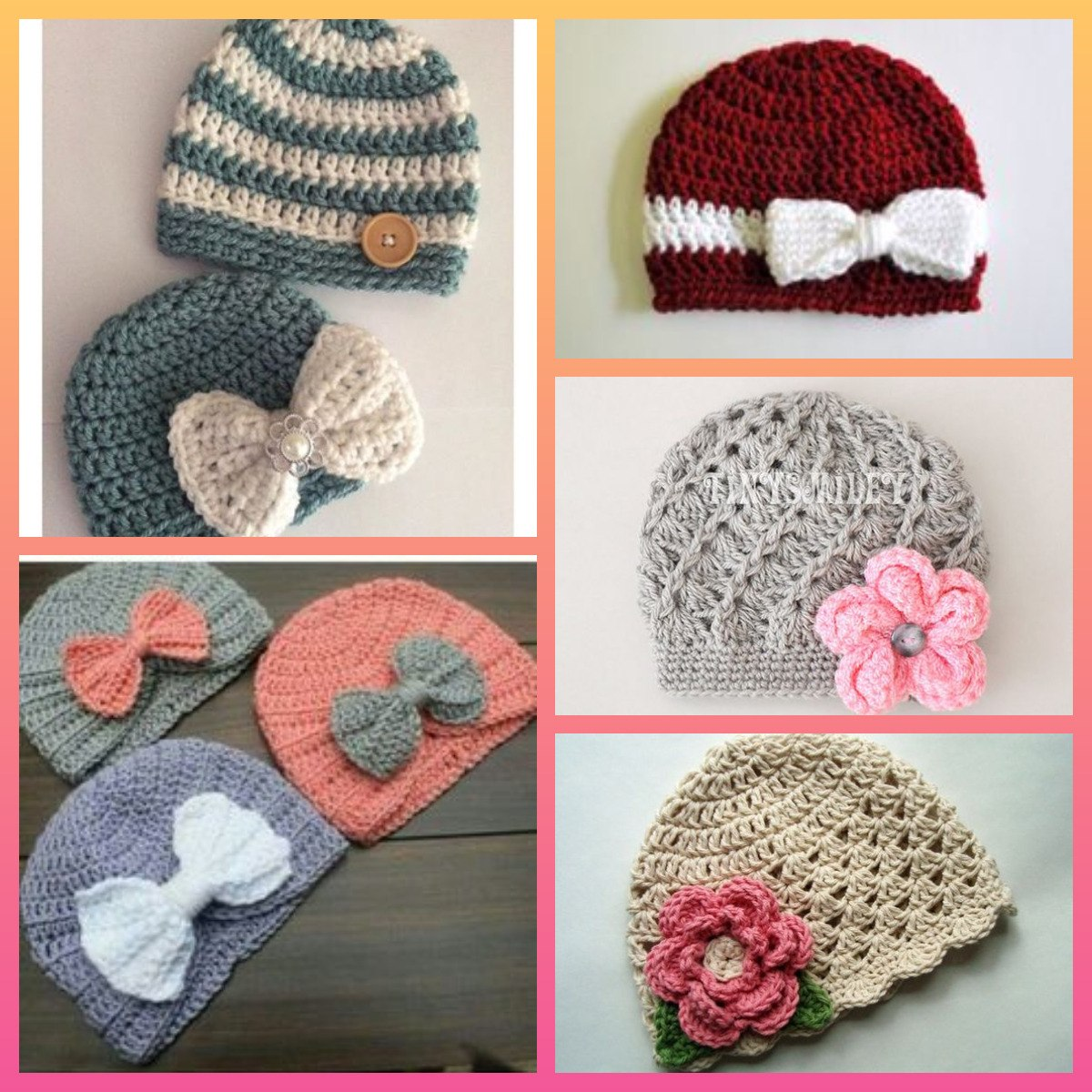 76b1045c2 Gorros Para Niña Crochet De 6 Meses A 1 Año -   12.000 en Mercado Libre