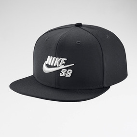 4a230a9aa3ad1 Gorra Nike Sb Icon Snapback Negra Logo Blanco Original