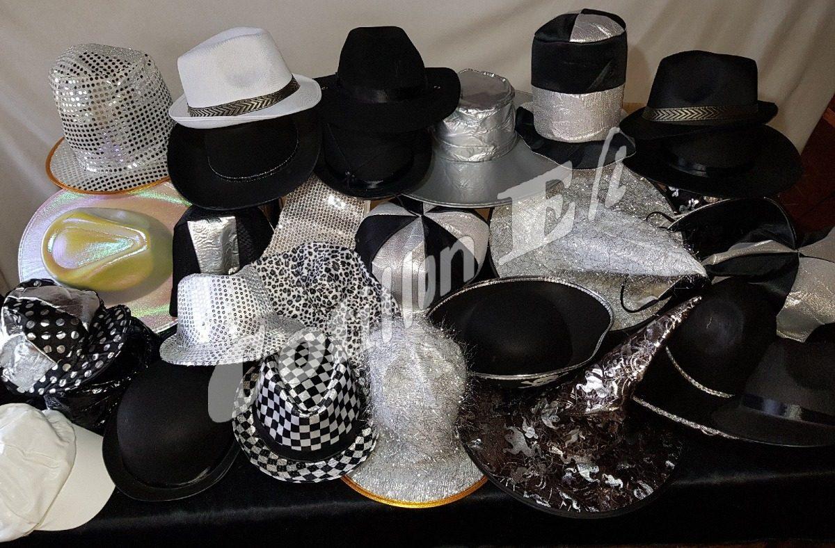Cotillon Gorros Sombreros Tematicos Tanda Blanco Negro Plata ... 4441251d25a6