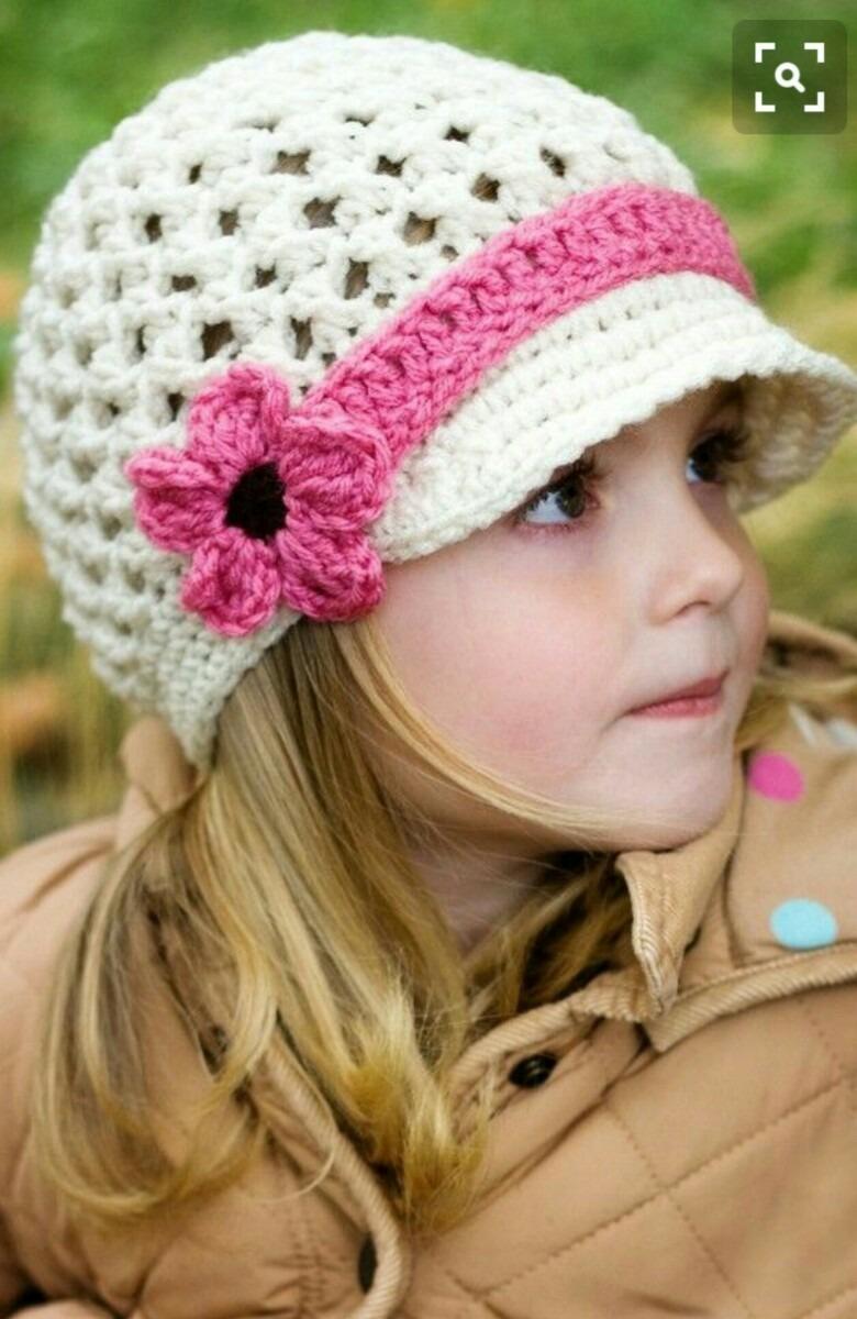 Gorros Tejidos Al Crochet Para Nios Bebs Y Adolescentes c282da3c615