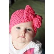 f4af979890c5 Gorros Tejidos A Crochet Moño Niñas Bebes