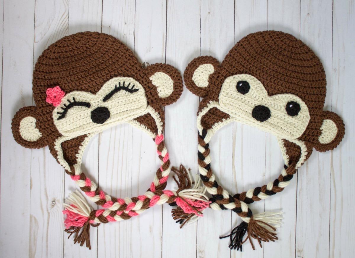 guapo a juego en color clásico Gorros Tejidos Al Crochet Niños - Bebes -