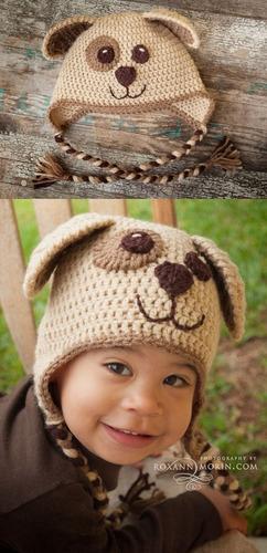 gorros tejidos bebes niños niñas animalitos