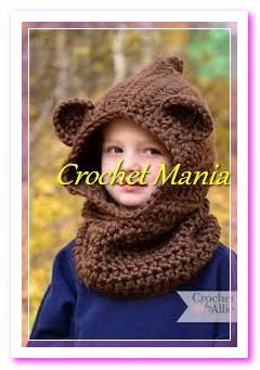 3c6117c47 Gorros Tejidos Crochet Tipo Capucha Para Niño Niña 1-9 Años ...