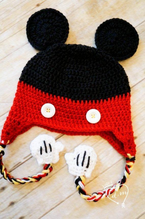 93ac4dbce5541 Gorros Tejidos Para Bebés De Mickey -   310.00 en Mercado Libre